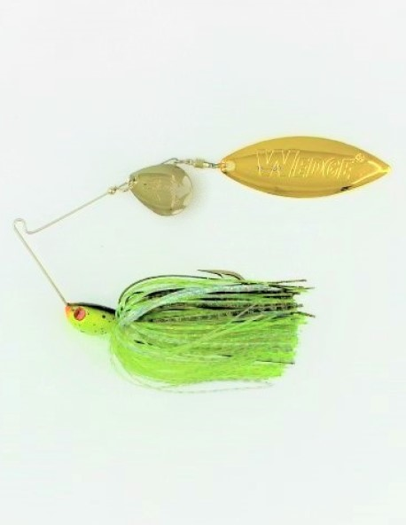Lot of 3 STANLEY 3//8oz CODE RED VIBRA WEDGE spinnerbaits in HICKORY SHAD color